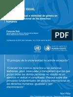 Françoise Roth (Oficina del Alto Comisionado de Derechos Humanos de las Naciones Unidas), Orientación sexual e identidad de género en derecho internacional de los derechos humanos