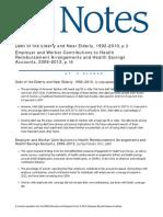 Debt of the Elderly and Near Elderly, 1992–2010, p. 2Employer and Worker Contributions to HealthReimbursement Arrangements and Health SavingsAccounts, 2006–2012, p. 16