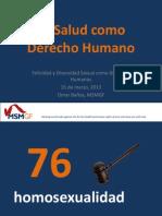 Omar Baños (Foro Mundial sobre HSH y VIH), La salud como un derecho humano