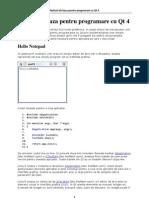 Notiuni de Baza Pentru Programare Cu Qt 4