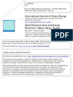 Wind Characteristics and Energy