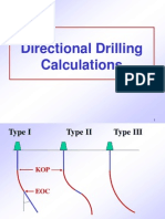 Calculation Equations for directional drilling