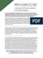 La France Veut Que 25 Pourcent de Voitures Soient Electriques