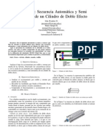 Secuencia Automática y Semiautomática de un Cilindro de Doble Efecto