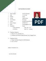 Daftar Riwayat Hidup Anis
