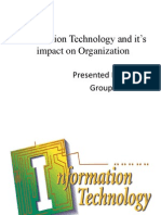 Information Technology and It_s Impact on Organization