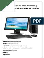 Primer Contacto Para Ensamble y Desensamble de Equipo de Computo