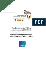 FLACSO - IPSOS Estudio Opinión Pública Latinoamerica 2009 - 2010