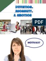 Motivation, Personality & Emotion