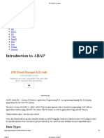 1 Introduction to ABAP