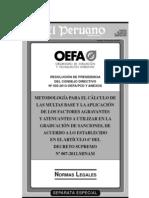 Metodología para el cálculo de las multas base y la aplicación de los factores agravantes y atenuantes a utilizar en la graduación de sanciones