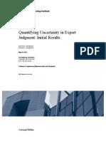 Quantifying Uncertainty in Expert Judgment
