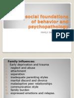 Psychosocial Foundations of Behavior and Psychopathology