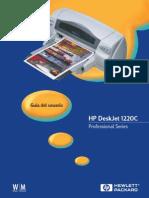 HP DeskJet 1220C Guia Usuario