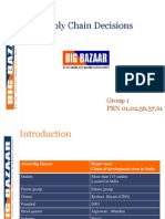Group A1_Supply Chain Decisions of Big Bazaar
