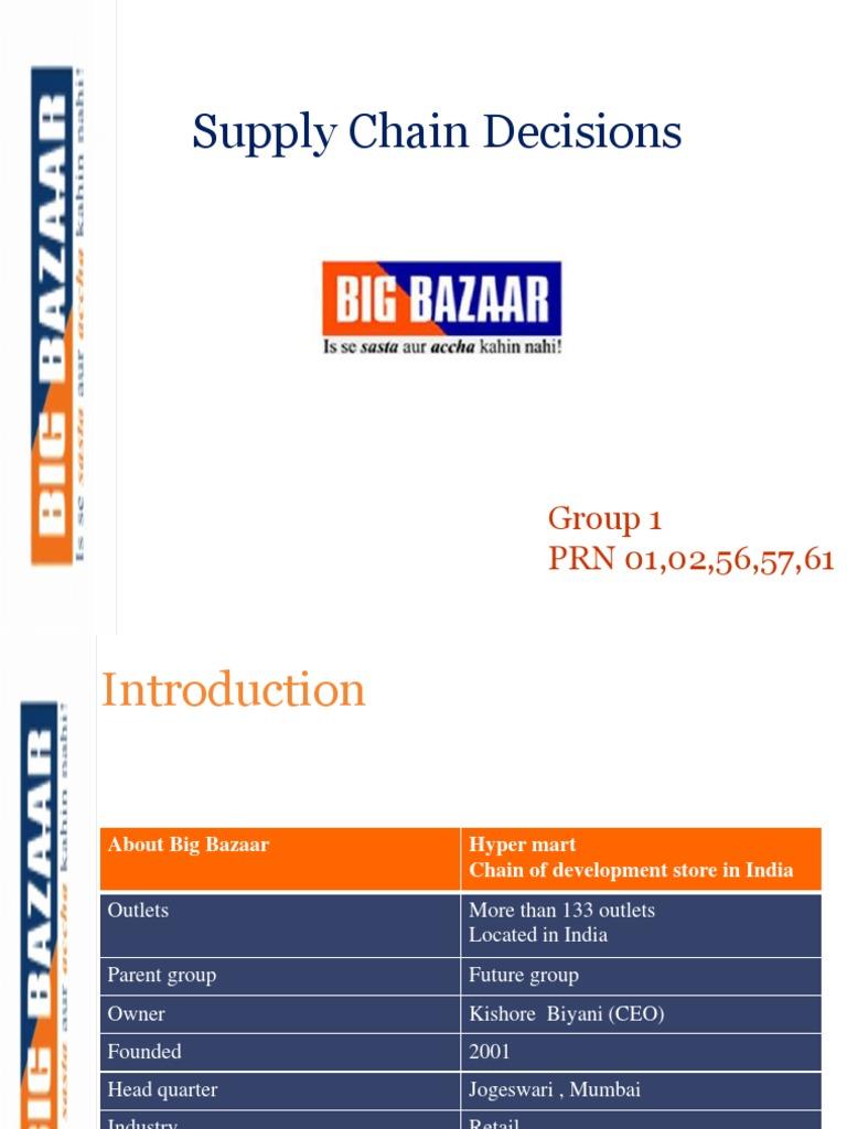 introduction of big bazaar