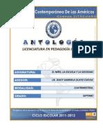 ANTOLOGIA EL NIÑO LA ESCUELA Y LA SOCIEDAD