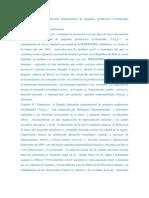Estatuto orgánico  federación departamental de pequeños productores Cochabamba