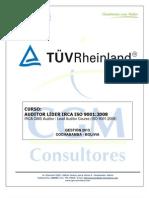 Curso Internacional Tuv Rheinland - Auditor Lider Irca Iso 9001 (2013)