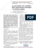 Highlighting commonalities and variabilities between cellular communication technologies via ontology mapping