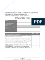 Accredited Mentoring Training APPLICATION FORM1