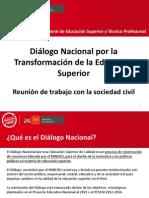 Presentación reunión de trabajo con la sociedad civil