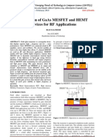 Simulation of GaAs MESFET and HEMT