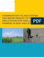 Conservation Tillage and Water Productivity in Ethiopia