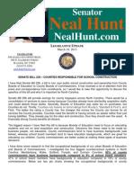 Special Legislative Update from Senator Neal Hunt