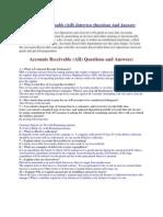 Accounts Receivable & Paybles Questions