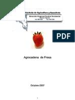 Agrocadena de La Fresa (Fragaria Spp)