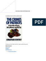 THE CRIMES OF PATRIOTS -- A TRUE TALE OF DOPE, DIRTY MONEY, AND THE CIA BY JOHNATHAN KWITNY 1987