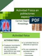 Actividad Física en poblaciones especiales