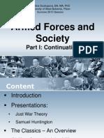 Civil Military Relations - Part I. Cont.
