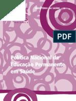 BRASIL_ PNEP 2009_ Política Nacional de Educação Permanente