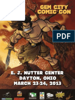 Gem City Comic Con Poster 2013