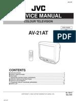 Service Adjustment JVC21AT Color Television