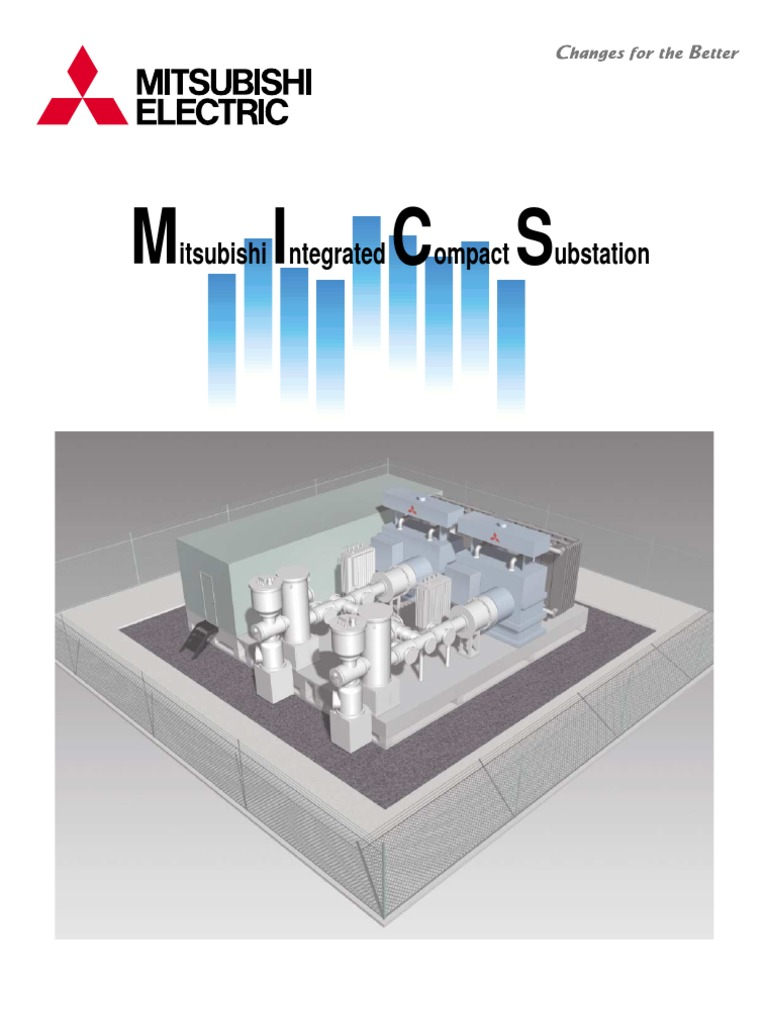 Mics Mitsubishi Integrated Compact Substation Electrical Rooms Layout Diagram Electricity