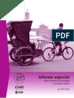 CDHDF Informe Especial Movilidad 2013
