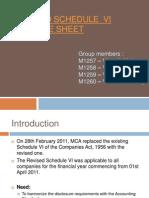 AFS Revised Schedule VI