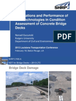 S13_Applications and Performance of NDT Technologies in Condition Assessment of Concrete Bridge Decks_LTC2013