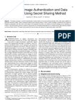 Document Image Authentication and Data  Repairing Using Secret Sharing Method
