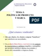 Tema 3 politica de producto y marcas de la universidad