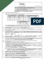 PROVA 8 - ANALISTA DE PESQUISA ENERGÉTICA - GÁS E BIOENERGIA