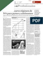 Nuevo Regimen IVA Pymes y Autonomos