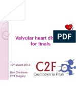 valvular heart disease for finals