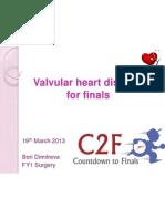 valvular heart disease for finals