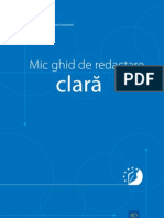 Mic Ghid de Redactare Clara