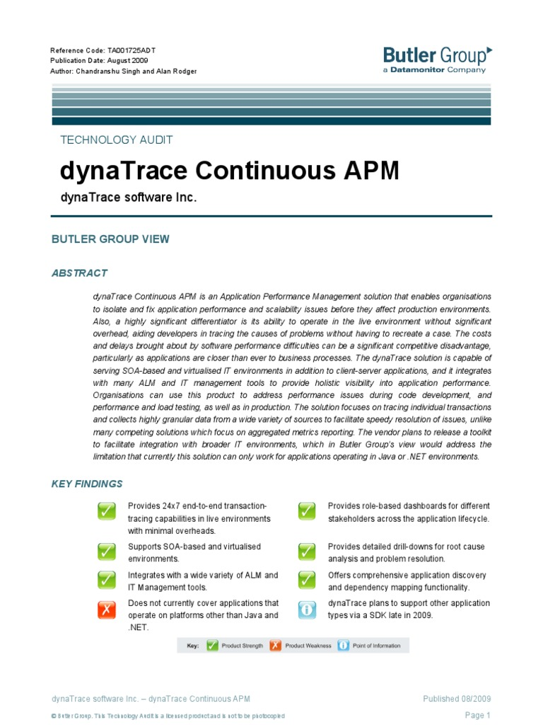 Dyna Trace | Service Oriented Architecture | Server (Computing)