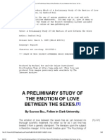 A Preliminary Study of the Emotion of Love Between the Sexes, By Sanford Bell